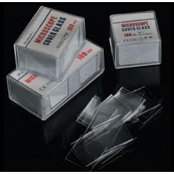 Предметни стъкла с матиран край, покривни стъкла и кутии за стъкла