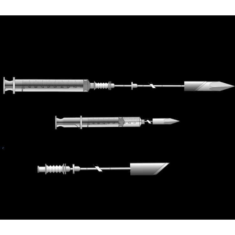 Disposable Aspiration Histological Needle according to Menghini (21 to 23Ga)