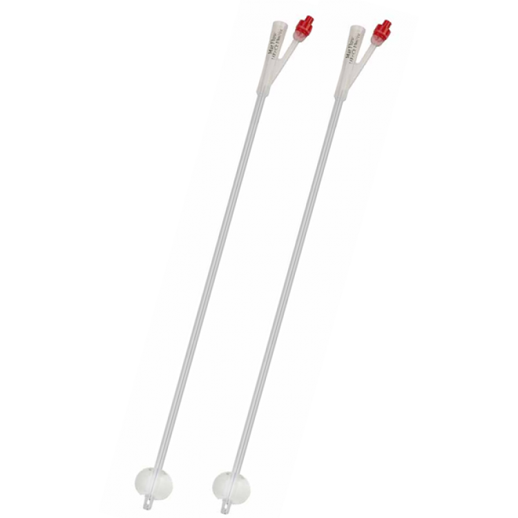 2-way 100% Silicone Suprapublic Catheter Transparent 10cc balloon